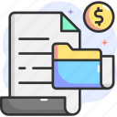 file, folder, money, dollar