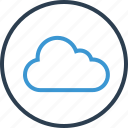 circle, cloud, safe, save, secure icon