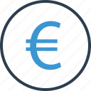 coin, currency, euro, money, sign icon