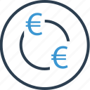 currency, euro, money, sign, wealth icon