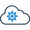 cloud, gear, options, safe, save, setup, work icon