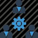 group, options, setup, team, thinking, work icon