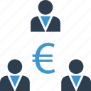business, currency, euro, money, partners, sign, wealth icon