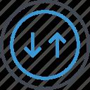 arrow, down, invest, revenue, up icon