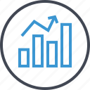 arrow, bars, data, graph, up icon
