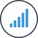 bars, business, data, graph, report icon