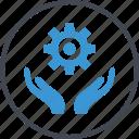 gear, hand, hands, options, setup icon
