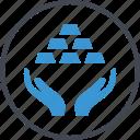 gold, hand, hands, reserve, revenue, standard icon