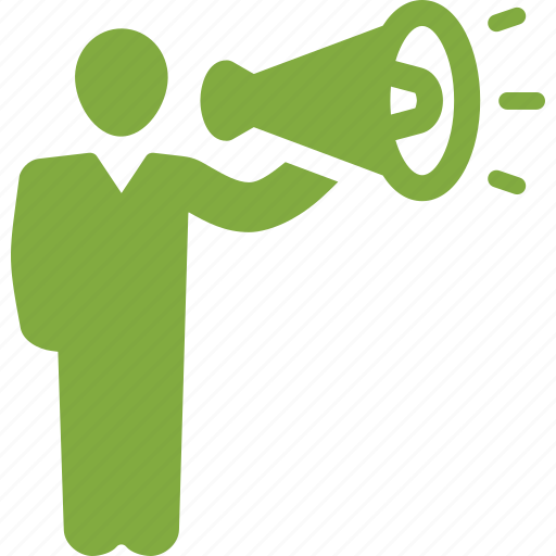 bullhorn, business, marketing, megaphone icon