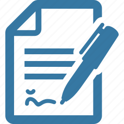business document, contract, file icon