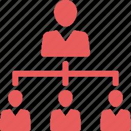 hierarchy, leader, leadership icon