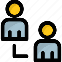 collaboration, connected people, employees, interconnected, organization icon