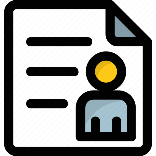 Biodata, curriculum vitae, cv, profile, resume icon | Icon search engine