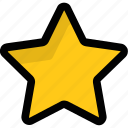 five pointed, ranking sign, rating star, star, star shape icon