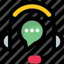 call center, customer service, customer support, headphones, telemarketing icon