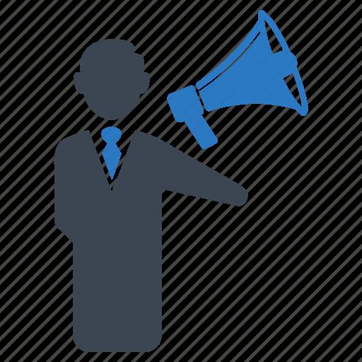 advertising, announcement, business, finance, marketing, megaphone, seo icon