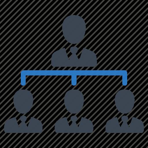 business, businessman, hierarchy, leader, marketing, seo, team icon