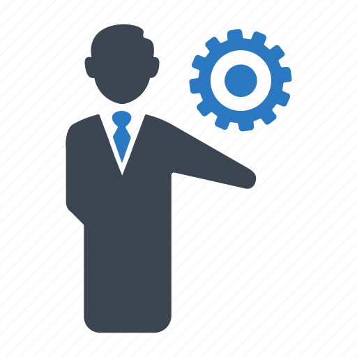 business, business solution, businessman, gear, management, seo, solution icon