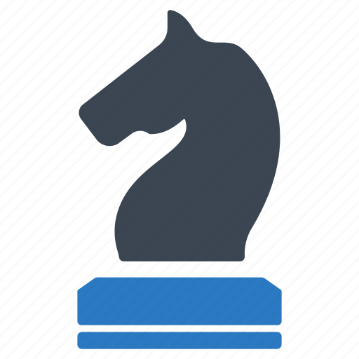 business, business strategy, chess knight, finance, marketing, planning, strategy icon