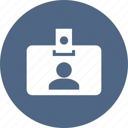 badge, business, card, id, identification, identity, profile icon