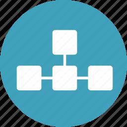 chart, diagram, flowchart, graph, heirarchy, org, organization icon