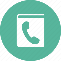 address book, book, communication, contacts, number, phone icon