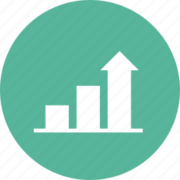 bar graph, chart, increase, profit, progress, up icon