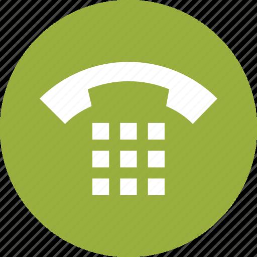 call, communication, keypad, phone, telephone icon