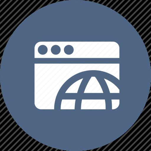 browser, development, network, webpage, website, worldwide icon