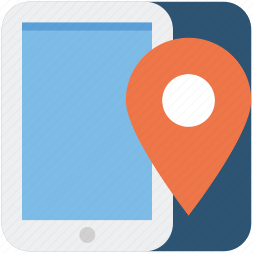 gps, location, mobile, phone, pin, smartphone icon