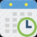 calendar, clock, planning, schedule, time icon