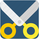 crop, cut, scissor, tool icon