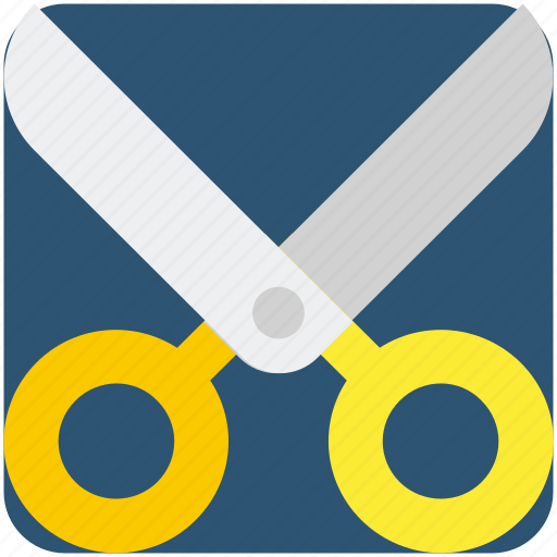 crop, cut, scissor, tool icon