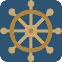 boat wheel, handle, ship wheel, wheel icon