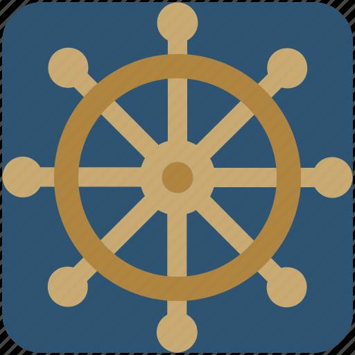 boat wheel, handle, ship wheel, wheel icon