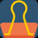 clamp, clamp clip, paper clamp, paper clip icon