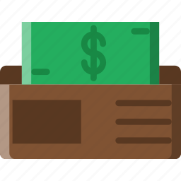 business, finance, marketing, wallet icon