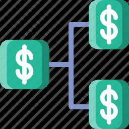 business, finance, marketing, money, tree icon