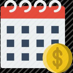 business, date, finance, marketing, money icon