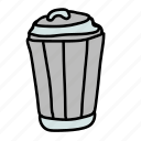 bin, business, dirt, rubbish, trash, unnecessary icon