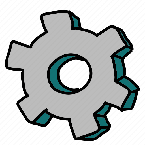 bolt, business, settings, technology icon