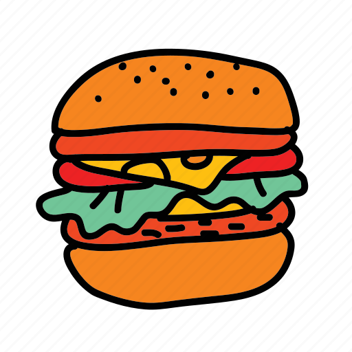 burger, business, food, lunch, meal icon