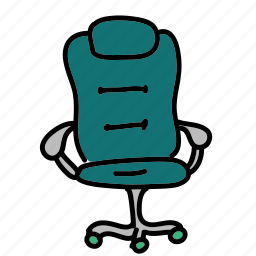 business, chair, desk, large, luxurous, office icon