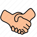 business, connect, hands, handshake, share icon