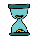 business, deadline, hourglass, passing, sand, time icon
