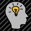 business, head, idea, lamp, light, lightbulb