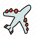 air, business, fly, plane, transport icon