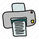 business, office, paper, printer, technology icon