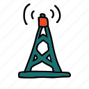 business, satellite, signal, strength, tower icon