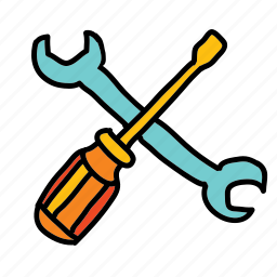 business, handwork, screwdriver, settings, wrench icon